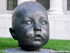 Giant Baby Heads in Boston, Massachusetts: Roadside Attractions, Baby Head, World's Biggest, In Boston, Museum Of Fine Arts, Wood Sculpture, Vacation Trips, Travel Around The World, Trip Planning