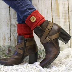 Boot Cuffs - ASPEN - Red