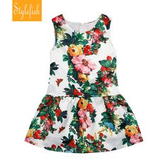 Aliexpress.com : Buy 2016 New Girls European and American Style Floral Dress Summer Children Cotton Beautiful Flowers Sleeveless Dress Hot Sale from Reliable Dresses suppliers on STYLE FISH KIDS