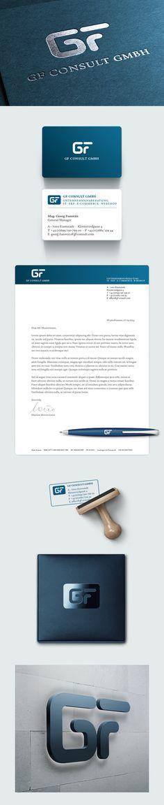 GF Consult – Identity by David Maninger, via Behance