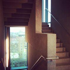 Sandblasted concrete stairway