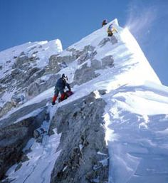 Everest Summit Ridge. Climbing Mount Everest has always been intriguing to me. I'm happy I got as far as base camp!