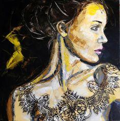 """Saatchi Online Artist: Charlene van den Eng; Oil, 2012, Painting """"Femme 22"""""""