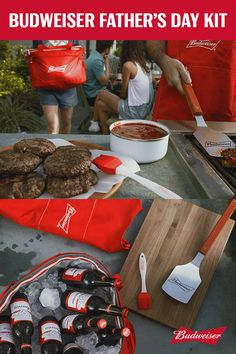 This Father's Day, get dad what he really wants: a Budweiser grilling kit. This one includes a signature Budweiser grilling apron, a portable cooler bag, a spatula, and a grill brush. It's the perfect gift for the original grillmaster. Pro-tip: Fill the cooler with some Buds before you give it to him.