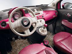 Pink Fiat 500 Barbie Edition