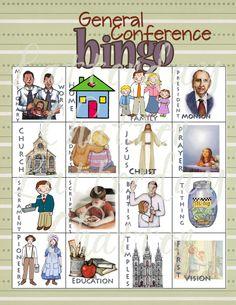 General Conference atter: Bingo: @Latter-day Chatter