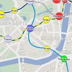 Mapping London's 'Tube Tongues' An interactive map shows what languages -apart from English- are most spoken at each underground stop London Life, London Street, London Map, Class Notes, Interactive Map, London Underground, Random Facts, Reading Material, Trivia