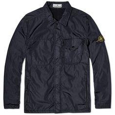 Stone Island Flock Nylon Shirt Jacket (Navy)