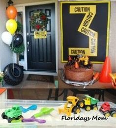 Tricks for Incredible Construction Birthday Party : Construction Birthday Party Ideas Homemade. party for boys Construction Birthday Parties, Construction Party, 4th Birthday Parties, Birthday Fun, Birthday Ideas, Birthday Banners, 1st Birthdays, Birthday Door, Birthday Invitations