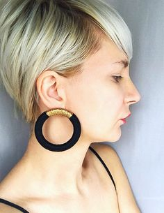Statement, Earrings, African Earrings, Tribal hoop earrings, Large Hoop Earrings, Black Earrings, Gold Earrings, Silver Earrings, Thread Wrapped Jewelry, African jewelry Big, elegant and edgy earrings. Stunning African inspired hoop earrings. These stunning hoop earrings are almost