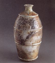 Shimaoka Tatsuzo     Ridged bottle.