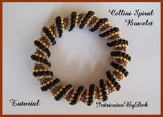 Tutorial Beaded Cellini Spiral Seed Bead Bracelet - Jewelry Beading Pattern, Beadweaving Instructions, PDF, Do It Yourself, How To