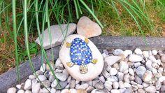 Gartendekoration+Stein++Schildkröte+blau+Mosaik+von+Meine+kleine+kunterbunte+Welt+-+abstrakte+Acrylbilder+und+Gartendekoration+aus+Mosaik+auf+DaWanda.com