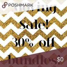 SALE ENDS FRIDAY 9/2/16 AT 10PM! PLEASE SHARE! 💙 It's moving time and I'm a highly motivated seller! Make your best offer on any item $11 and up (items priced $10 and under are FIRM UNLESS BUNDLED) OR get 30% off 3+ bundles! Come take a peek at my Posh Compliant closet and snag some great prices on ladies' and men's items! ***SALE ENDS FRIDAY 9/2/16 AT 10PM!*** ✅Top-rated seller // ✅ Orders ship same or next day depending on time of purchase // 🚫NO trades // 🚫NO low-balling 🚫NO PP or…
