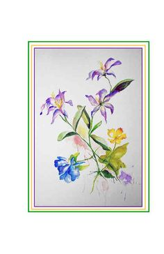 1000 Images About Watercolor Flowers On Pinterest