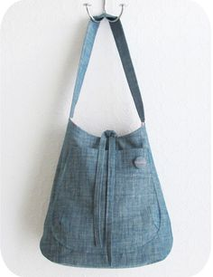 Chambray Bucket Bag Pattern from Michelle Patterns