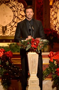 Hugh Jackman,xmas party in the white house