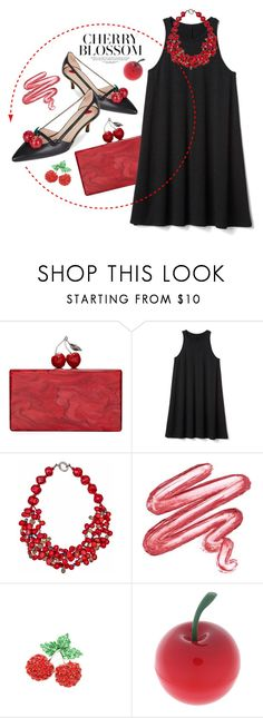 """""""Your friend's party"""" by gabygrach ❤ liked on Polyvore featuring Edie Parker, Gap, Plumeria Exclusive London, Bubbly Bows and Tony Moly"""
