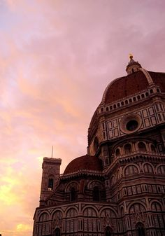 A gorgeous sunset over the Duomo in Florence, Italy - Love and London