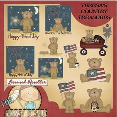 American Teddies Collection Clipart