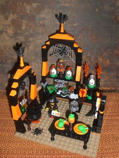 Lego Fright Knight Witch Custom Halloween Display