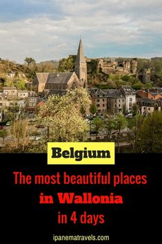 Discover the most beautiful places and castles in Wallonia (Belgium) in a itinerary. Find information about attractions and things to do in Dinant, Durbuy, Annevoie, Bouillon, La Roche-en-Ardenne and Rochefort. European Travel Tips, European Vacation, Europe Travel Guide, Travel Guides, Travelling Europe, Traveling, Travel Abroad, Europe Destinations, Visit Belgium