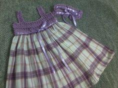 VESTIDO CON TEJIDO Y TELA on Pinterest | Crochet Dresses, Crochet ...