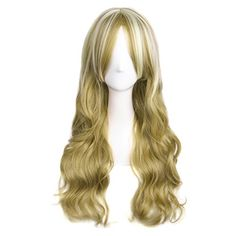 MapofBeauty Ladies Fashion Party Long Curly Wig Natural Curly * You can get additional details at the image link.