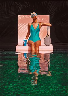 Dreamer Pool/New Colors – Photography by Elena Iv-skaya – fashion editorial photography Pool Photography, Creative Photography, Editorial Photography, Modeling Photography, Glamour Photography, Pool Fashion, Fashion Shoot, Editorial Fashion, Vintage Swim