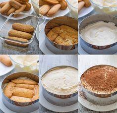 Icebox Cake, Bread Cake, Recipe Steps, Italian Desserts, Desert Recipes, No Bake Desserts, Diy Food, Nutella, Biscotti