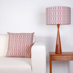 Dancing Beetle lampshade and cushion by Clementine & Bloom