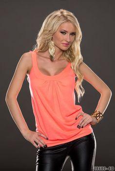 Damen Trägertop Longshirt Longtop Tailliert Top Shirt,Figurbetont 34/36 4 Farben