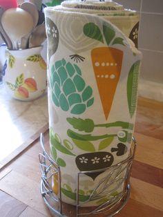 Snapping UNpaper Towels/ Dishcloth Set / Bathroom Handtowel Set / Swiffer Mop Pads / Veggie Garden. $42.00, via Etsy.