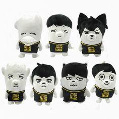 Official BTS / Bangtan Boys HipHop Monster Plush Dolls