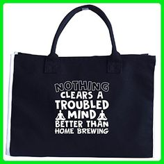 Nothing Clears A Troubled Mind Better Than Home Brewing - Tote Bag - Top handle bags (*Amazon Partner-Link)