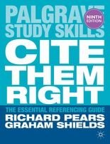 Cite Them Right by Richard Pears and Graham Shields (Available in the School LIbrary at 371.3) The essential guide to referencing and avoiding plagiarism.