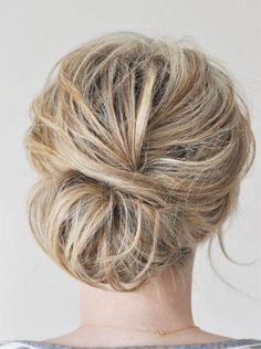 Messy Updo Hairstyle for Brides