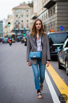 Chiara Ferragni The Blonde Salad Street Style Street Fashion Streetsnaps by… Street Look, Street Chic, Street Style 2016, Cool Street Fashion, Street Style Looks, Trendy Fashion, Style Fashion, Trendy Style, Chiara Ferragni Style