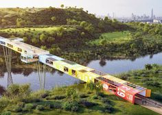 The architects were inspired by the Ariel Sharon National Park itself, which is turning an old urban rubbish dump into a flourishing green space.