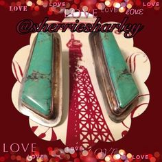 """Vintage Sterling Turquoise Post Earrings LOWERED Stunning Sterling Silver Turquoise Earrings sure to dazzle on your date night or any other night!  Unique setting has stamp 86 & sterling.  1 7/8""""L x 3/4""""W.  Vintage & price firm unless bundled. Jewelry Earrings"""