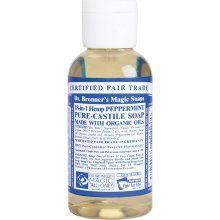 Dr.Bronners Soap-use diluted for hand soap, bath soap, baby wipes, whatever!  Super safe for sensitive skin and made from organic oils!