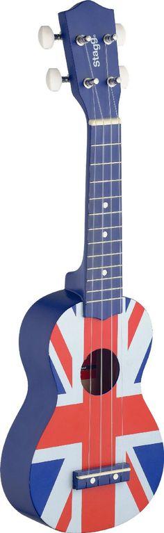 Stagg Traditional Soprano Ukulele - UK Flag: Amazon.co.uk: Musical Instruments