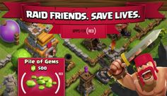 Nov. 2014. Clash of Clans update lets players donate to (product) #RED. The massive multi-player online strategy game is one of many apps taking part in APPLE'S RED FUNDRAISER. In the Clash in-game shop, purchase of designated rubies surrounded by parenthesis. These rubies trigger a donation to RED & your town hall is topped with a red banner, informing other players of your support.  #CAUSEMARKETING, #sPONSORSHIP