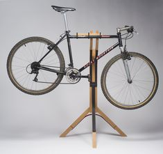 New Work: Custom Bike Stand Bike Stand Diy, Bike Work Stand, Bike Repair Stand, Bicycle Stand, Bike Stands, Standing Bike Rack, Bike Hanger, Bike Storage Rack, Bike Room