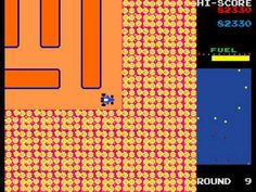 A maze driving game sequel to the Rally X. the player drives a car around a maze picking up all of the yellow flags, of which there are before the car's . Game Boom, Retro Arcade, Game Background, Fun Games, Arcade Games, Rally, Video Games, Childhood, Maze