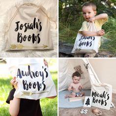 Personalised Book Bag / smallprintdesign
