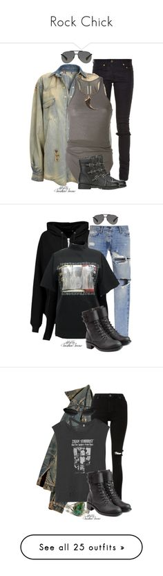 """Rock Chick"" by saskiasnow ❤ liked on Polyvore featuring Yves Saint Laurent, Topshop, Rick Owens, Jimmy Choo, Dolce&Gabbana, BLK DNM, Gosha Rubchinskiy, Inhabit, Philosophy di Lorenzo Serafini and R13"