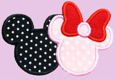 Girl and Boy Mice Applique Machine Embroidery by AppliquesByMe
