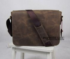 13 ' In pelle artigianali valigetta / Messenger / Laptop / sacchetto di uomini in marrone scuro on Etsy, 79,55€