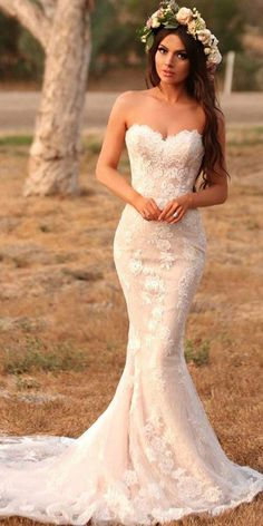 Attractive Tulle & Lace Sweetheart Neckline Mermaid Wedding Dresses With Beadings & Lace Appliques Mermaid Sexy Deep V-back Wedding Dress.The professional tailors from wedding dress Top Wedding Dresses, Sweetheart Wedding Dress, Bridal Dresses, Mermaid Sweetheart, Tulle Wedding, Lace Mermaid Wedding Dress, Gown Wedding, Sweatheart Neckline Wedding Dress, Champagne Lace Wedding Dress